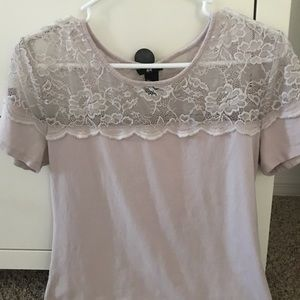 H&M lace topped T-shirt